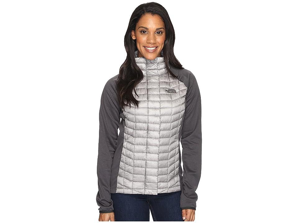 The North Face ThermoBall Hybrid Full Zip (Metallic Silver/Asphalt Grey (Prior Season)) Women