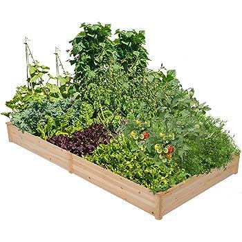 Amazon Com Greenes 4 Ft X 8 Ft X 10 5 In Cedar Raised Garden Bed Garden Outdoor