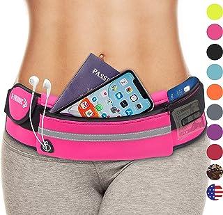 E Tronic Ribete Packs: los mejores cinturones de correr unisex que se adaptan a todos los tamaños de cintura y todos los modelos de teléfono. Para correr, entrenamientos, ciclismo, viajar, cinturón de dinero y más. Viene en 10 elegantes colores.