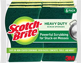 Scotch-Brite Heavy Duty Scrub Sponges, Tougher than Your Worst Messes, 6 Scrub Sponges