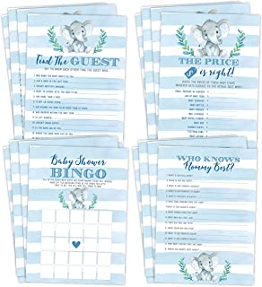 Elephant Boy Baby Shower Games, Bingo, Find The Guest, The Price Is Right, Who Knows Mommy Best, 25 games each