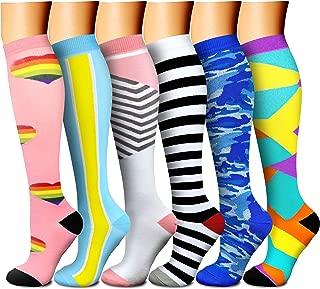 CHARMKING Compression Socks, 15-20 mmHg is Best Athletic & Medical for Men & Women,  Running,  Flight,  Nurses,  Pregnant