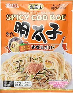 S & B Japanese Spicy Cod Roe Mentaiko Spagetti Sauce 1.88-Ounce Units (Pack of 6)