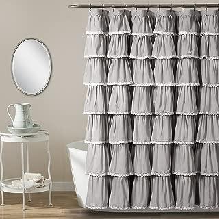 Lush Decor Lace Ruffle Shower Curtain, 72
