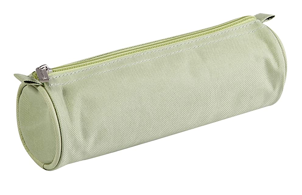 Clairefontaine 7 x 22 cm Fabric Round Pencil Case, Green
