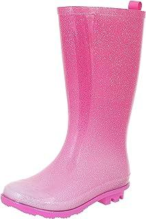 a70cf2a6f Capelli New York Girls Allover Glitter Fisherman Style Rain Boots