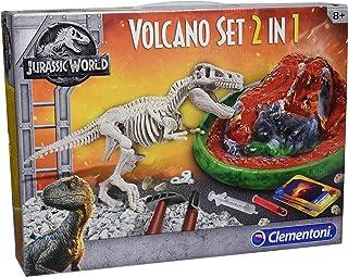 Clementoni- Jurassic World: T-Rex + Volcán, Multicolor, Tal