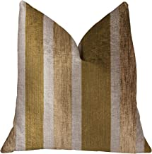"Plutus Brands Plutus Golden Tan Lines Luxury Throw Pillow, 12"" x 20"""