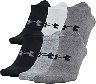 Under Armour Adult Essential Lite No Show Socks, 6-Pairs