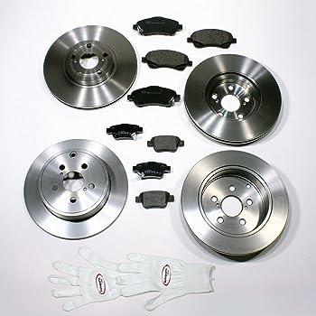 Bremsschl/äuche vorne Bremsbel/äge Radlager hinten Bremsscheiben mit ABS Ringen hinten Bremsbel/äge vorne Autoparts-Online Set 60003129 Bremsscheiben//Bremsen