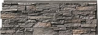 NextStone Polyurethane Faux Stone Panel - Country Ledgestone - Appalachian Gray (4 Panels per Box)
