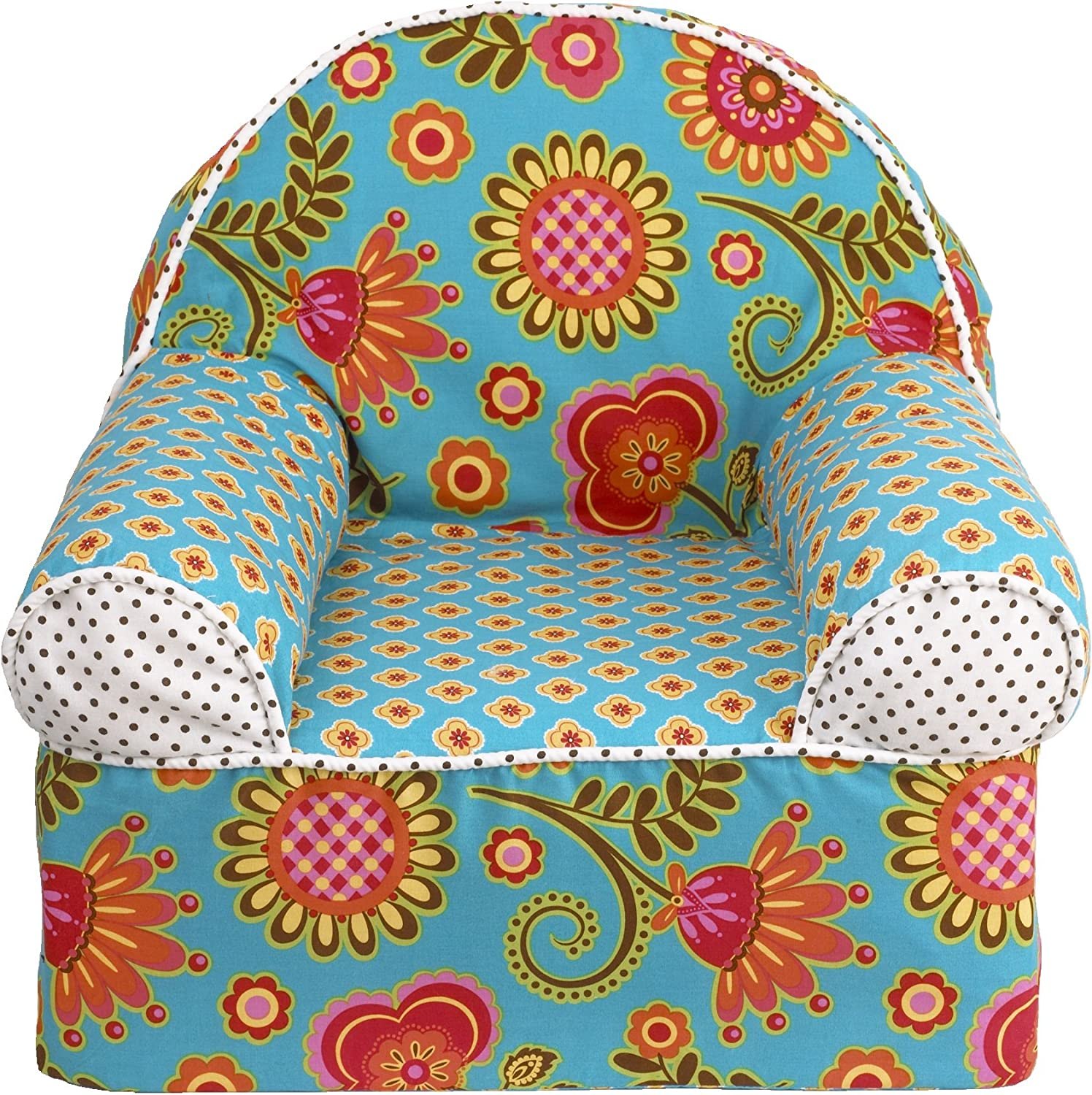 Cotton Tale Designs Gypsy Chair, Turquoise Red orange Yellow