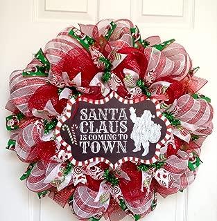 Best candy cane deco mesh wreath Reviews