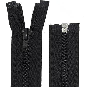 YKK Reißverschluss 1Wege schwarz teilbar 180cm lang 5mm Spirale