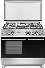 Cocina SolThermic F9LT50G2-I INOX PORTABOMBONA de color INOX compuesta por 5 Quemadores y Horno Incorporado.