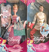 Disney Enchanted Swirl 'n Style Cinderella Doll & Enchanted Prince Charming Doll Set of 2 Dolls w Accessories (2001)