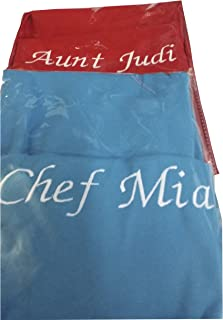 CHEFSKIN Personalized Embroidery Apron Choose Color and Name