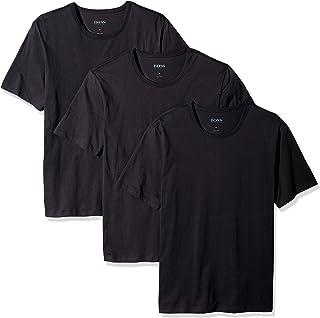 Hugo Boss Men's 3-Pack Round Neck Regular Fit Short Sleeve T-Shirts