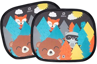 Diono Kids Character Car Window Shade 2 Pack - Cling Sunshade for Car Windows Baby Side Window Car Sun Shades for Blocking...