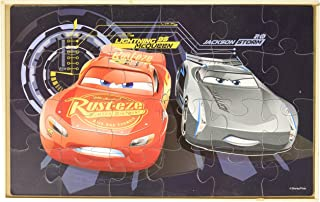 Disney Cars 3 7 Wood Puzzles in Wooden Storage Box (Styles Will Vary)