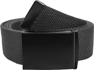 Fully Adjustable Canvas Web Belt with Black Flip Top Buckle 50'' Long