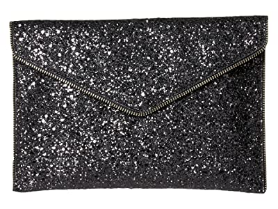 Rebecca Minkoff Glitter Leo Clutch (Black Multi) Clutch Handbags