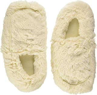 Furry Warmers Fully Microwavable Furry Slippers Cream