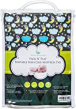 #1 BEST Pack N Play Waterproof Mattress Pad – Fits ALL Mini Portable Crib Mattresses - Silky Soft, Hypoallergenic - Machine Wash & Dry - By Nursery Necessities