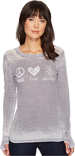 Peace Love Snowdays Thermal Top