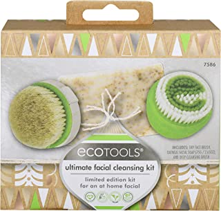 EcoTools Ultimate Facial Cleansing Gift Set with Facial Cleansing Brush, Cleaner, and Facial Exfoliator, Set of 3 Skin Care Products
