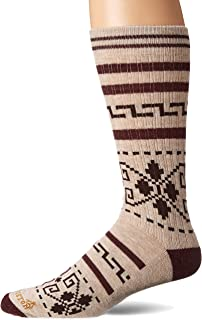 Pendleton Men's Camp Crew Socks, Westerley Brown, Large (Fits Men's 9-12/ Women's 10-13)