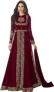 ANK Women's Georgette Semi-stitched Salwar Suit