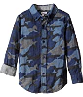 Splendid Littles - Long Sleeve Camo Print Woven Top (Little Kids)