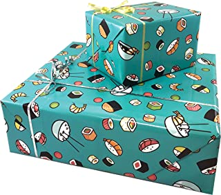 Sushi Gift WRAP Paper - Funny Gift Wrap 3 Sheets, 27x39""
