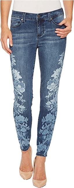 Liverpool Penny Ankle Skinny in Vintage Super Comfort Stretch Denim in Montauk Mid Blue