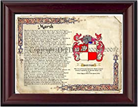 Best Marsh Coat of Arms/ Family Crest on Fine Paper and Family History Review