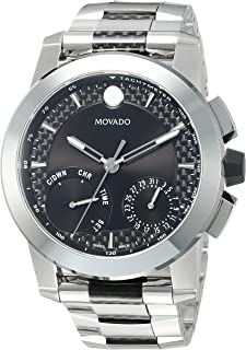 Men's Swiss-Quartz Watch with Stainless-Steel Strap, Silver, 26 (Model: 0607030)