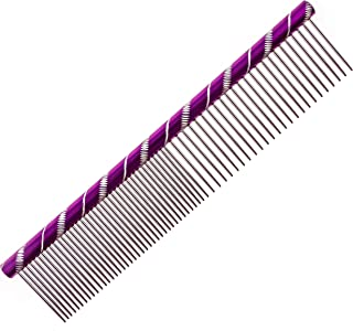 MEKBOK Dog Comb Grooms Cats As Well - for Medium to Thick Coats - 8 Inch Length - Rounded Spine - Grooming Tool for Mats and Shedding