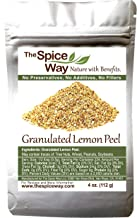 The Spice Way Lemon Peel - Granules | 4 oz | zest and rind without any preservatives. Great for cooking, baking and tea.
