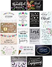 Faithful Finds 48-Pack Christian All Occasion Greeting Cards Set with Envelopes, 4 x 6 Inches