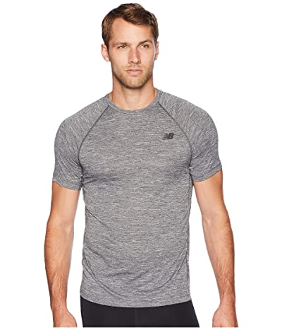New Balance Tenacity Short Sleeve Tee (Heather Charcoal) Men