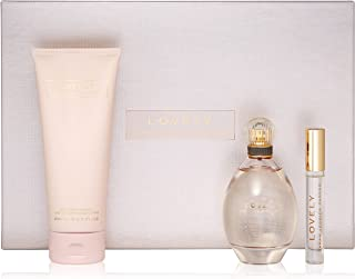 Sarah Jessica Parker Lovely Gift Set (Eau De Parfum Spray 3.4 Oz + Body Lotion 6.7 Oz + Eau De Parfum Roller Ball 0.34 Oz Miniature) for Women, 3.4 Fl Oz