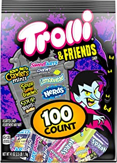 Trolli & Friends Candy Variety Pack, SweeTARTS, Nerds, & Lemonhead, 100 Count
