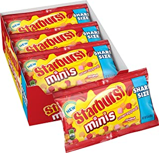 Starburst Original Minis Fruit Chews Candy, 3.5 ounce (15 Share Size Packs)