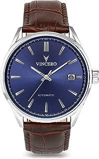 Luxury Men's Kairos Automatic Wrist Watch with Italian Leather Watch Band — 42mm Automatic Watch — Citizen Miyota Automatic