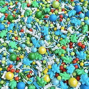 Dinosaur Sprinkles | 8 Ounces | Cake Sprinkles | Jimmies | Manvscakes