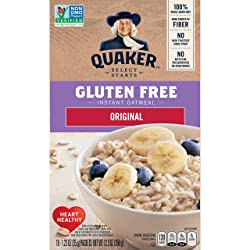 Quaker Instant Oatmeal, Gluten Free Original, Breakfast Cereal, 10 Packets