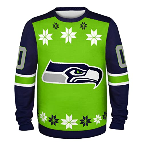 huge discount 59989 23d6b Seattle Seahawks Ugly Christmas Sweater: Amazon.com