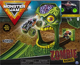 Monster Jam Official Zombie Madness Playset Featuring Exclusive Die-Cast Zombie Monster Truck