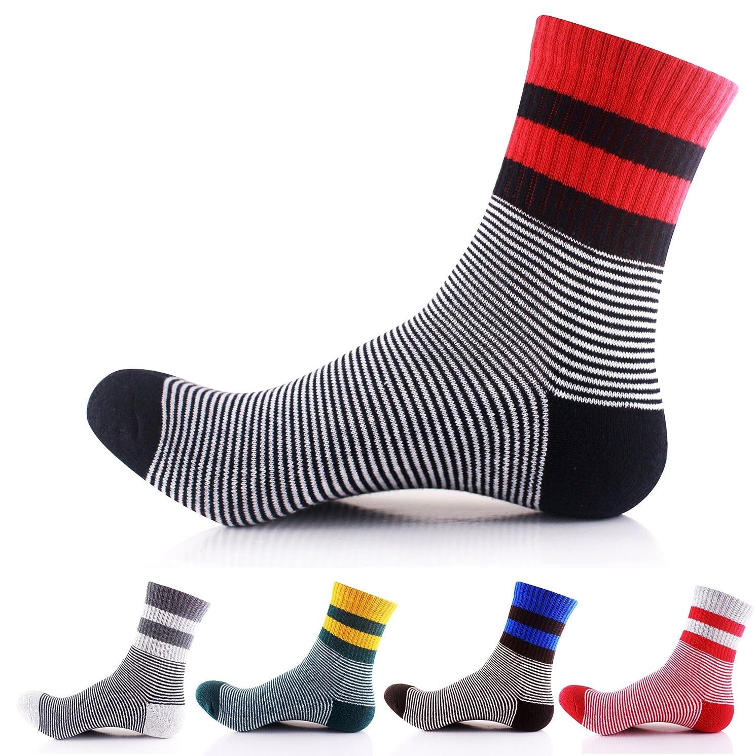 Men's Crew Socks Running Compression Socks Quarter Socks 4,5,6 Pack
